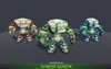 Forest Golem Mesh Tint Shop3DSA Unity3D Game Low Poly Download 3D Model