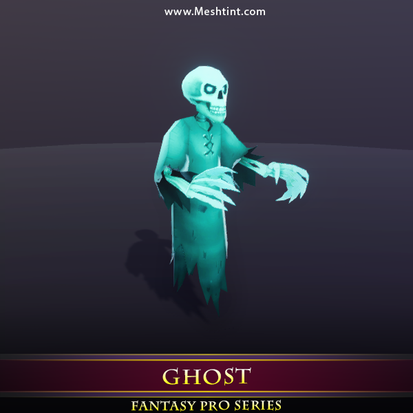 Ghost 1.2 Mesh Tint Shop3DSA Unity3D Game Low Poly Download 3D Model