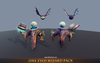 One Eyed Wizard Pack Mesh Tint Shop3DSA Unity3D Game Low Poly Download 3D Model