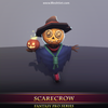 Scarecrow 1.3 Mesh Tint Shop3DSA Unity3D Game Low Poly Download 3D Model