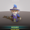 Wizard - Mesh Tint - Shop3DSA - Unity - 3D - Game - Low - Poly - Model - Animation