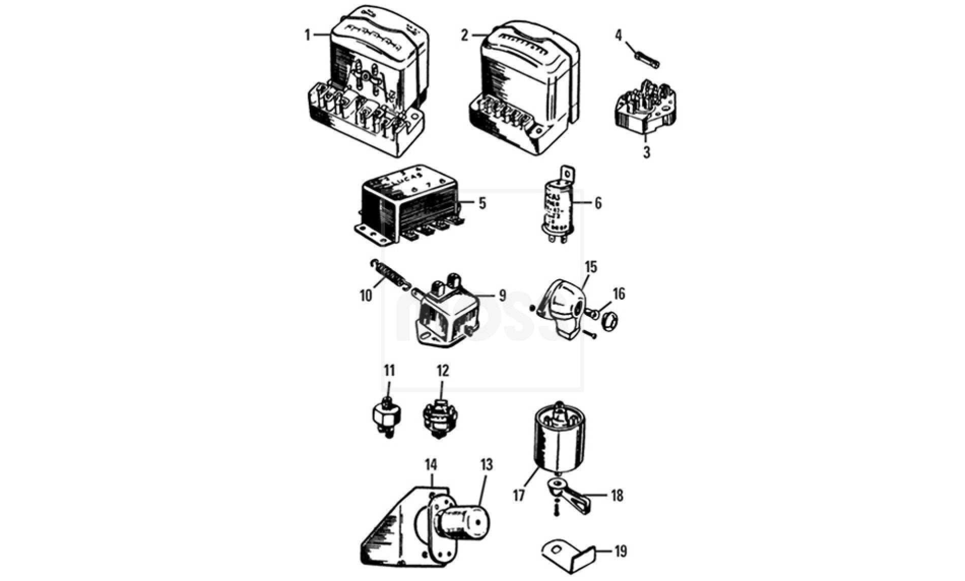 MG T Type Electrical SWITCHES & CONTROLS Switches Fuses