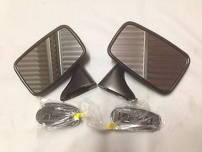 165-190/195 MG MGB DOOR MIRRORS GENUINE TEX UK BRAND - BLACK - MG Sales & Service
