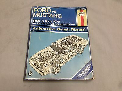 MUST1 FORD MUSTANG V8 WORKSHOP MANUAL 1964 1/2 - 1973 - MG Sales & Service - 1