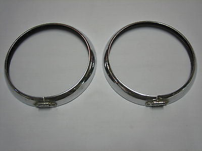 "8LCSRIMS LUCAS 8"" HEADLIGHT RIMS - MATCHED PAIR OF 2 - MG Sales & Service"