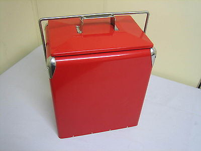 RED METAL COOLER - MG Sales & Service - 1