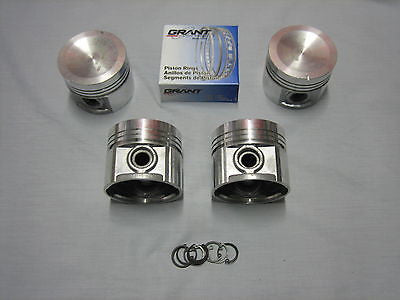 "420-410 MG MGB 5BRG HI-COMPRESSION PISTON SET - OSIZE .030"" W/RINGS & CLIPS - MG Sales & Service"