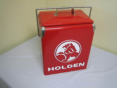 VINTAGE REPLICA HOLDEN RED METAL COOLER NEW - MG Sales & Service - 1