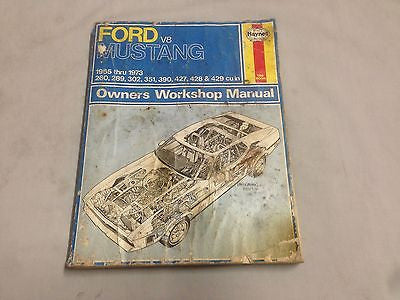 MUST2 FORD MUSTANG V8 WORKSHOP MANUAL 1965 - 1973 - MG Sales & Service - 1