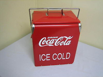 VINTAGE REPLICA COCA COLA METAL COOLER NEW - MG Sales & Service - 1