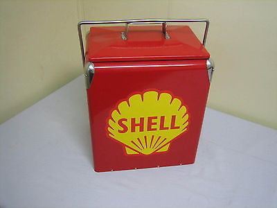 SHELL RETRO METAL COOLER coke drinks vintage BRAND NEW - MG Sales & Service - 1
