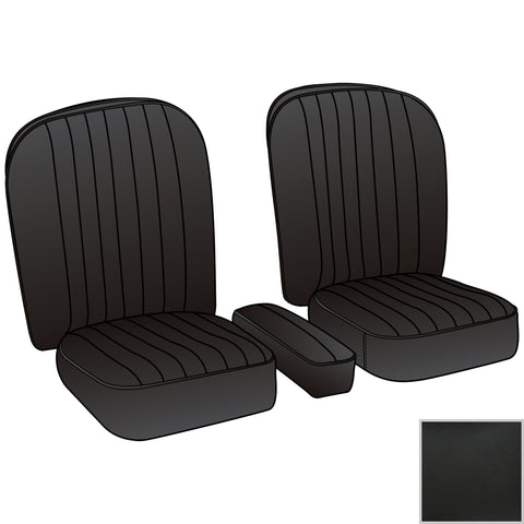 246-130 MGA BLACK SEAT KIT WITH BLACK PIPING