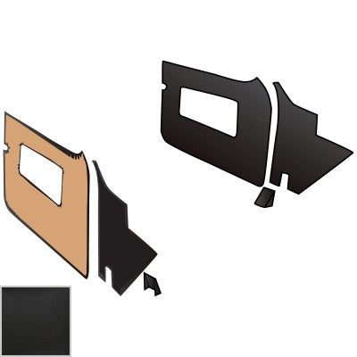 246-250 MGA BASIC BLACK TRIM KIT WITH BLACK PIPING