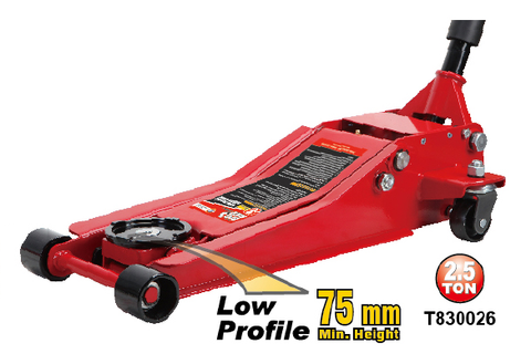 T830026 LOW PROFILE STEEL FLOOR JACK 1.8TON