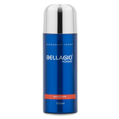 Bellagio Deodorant Spray Accelerate (Orange, 175ml)