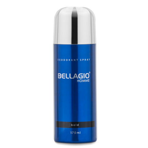 Bellagio Deodorant Spray Bold (Black, 175ml)