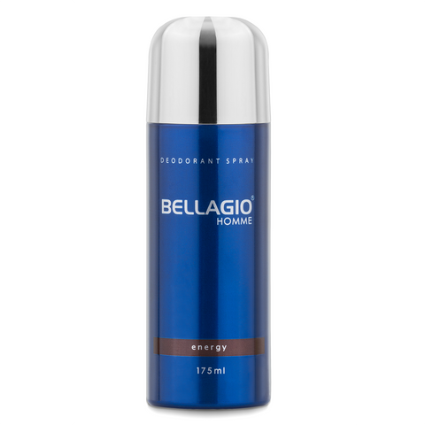 Bellagio Deodorant Spray Energy (Brown, 175ml)