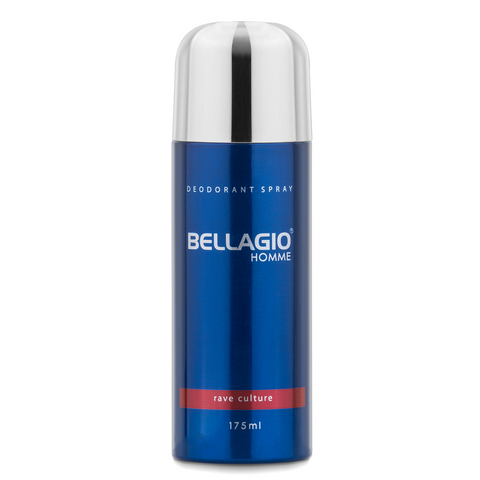 Bellagio Deodorant Spray Rave Culture (Red, 175ml)