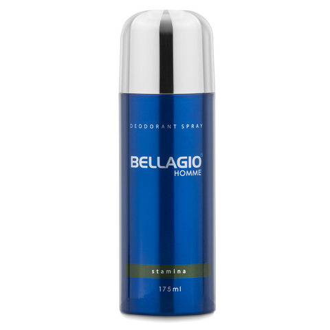 Bellagio Deodorant Spray Stamina (Green, 175ml)