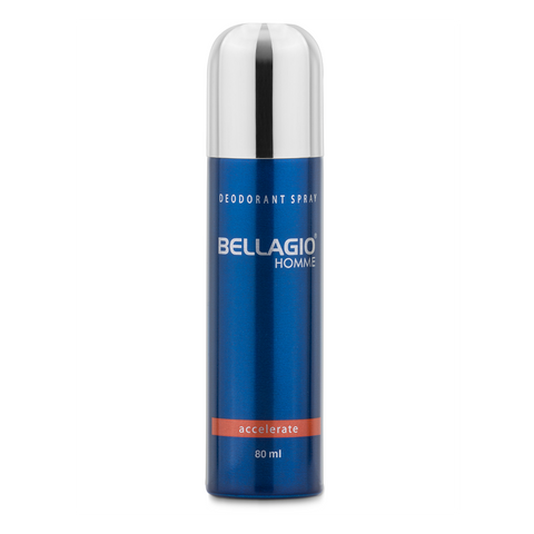 Bellagio Deodorant Spray Accelerate (Orange, 80ml)