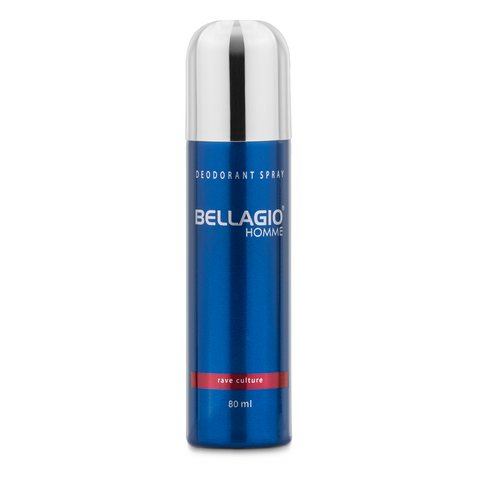 Bellagio Deodorant Spray Rave Culture (Red, 80ml)