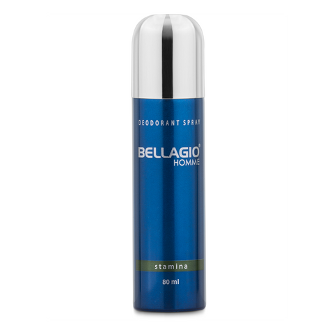 Bellagio Deodorant Spray Stamina (Green, 80ml)