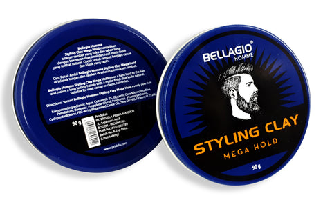 Bellagio Homme Styling Clay Mega Hold (Black) 90g