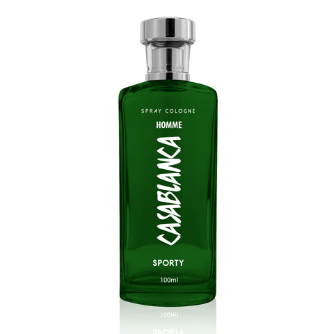 Casablanca Spray Cologne GLASS Homme Dark Green (Sporty) 100ml