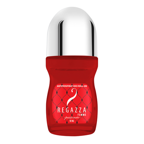 Regazza Antiperspirant Deo Roll On Passionate (Red, 50ml)