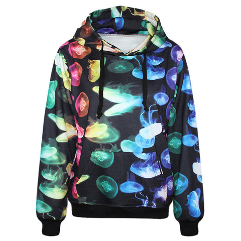 3D Jellyfish Print Hoodies