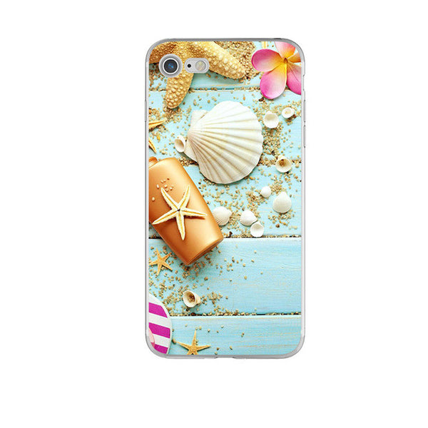 Seashell on Blue Soft iPhone case
