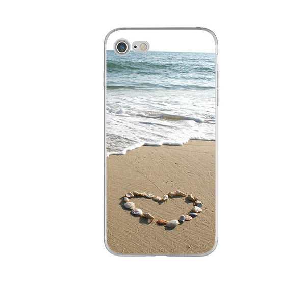 Heart on Sand Soft iPhone case