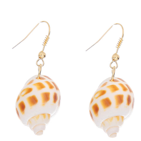 Sea Snail Shell Earrings