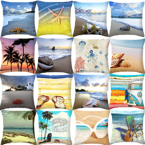 Beach Style Decorative Throw Pillow Cover