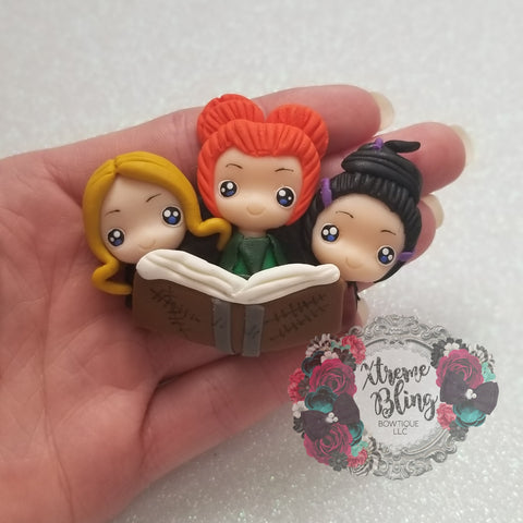 Large Hocus Pocus Sisters w/ Book Clay (Includes 1 Clay)(24B)
