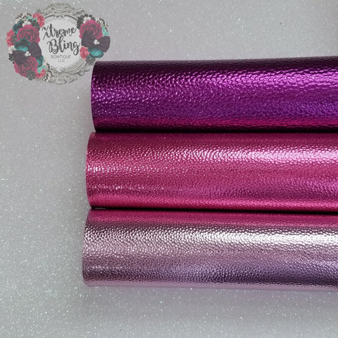 Pink/Purple Pebble Metallic w/ Felt Back Sheet (8inx13.5in)