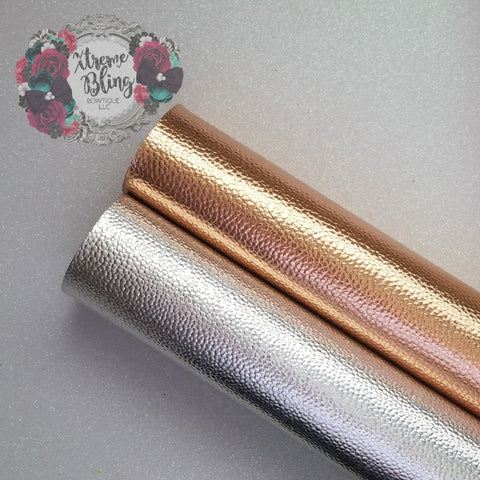 Copper/Silver Pebble Metallic w/ Felt Back Sheet (8inx13.5in)