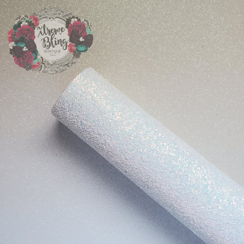 White Long Glitter Chunky Glitter Sheet (8inx13.5in)(1i)