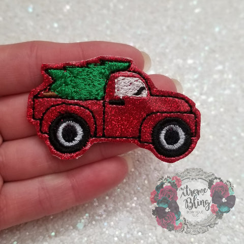 Christmas Tree Truck Felt Bow Center (Includes 1)