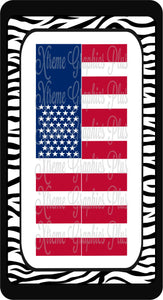U.S.A. Flag Ready to Press Sublimation Bow Strips