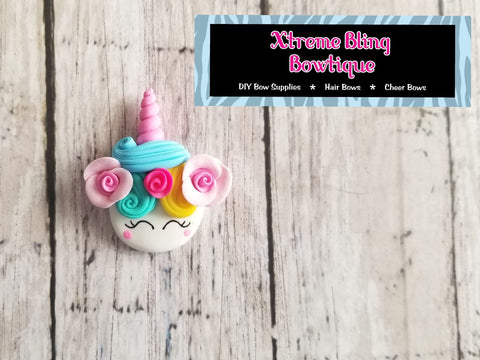 Pastel Floral Unicorn Head Clay (Includes 1 Clay)