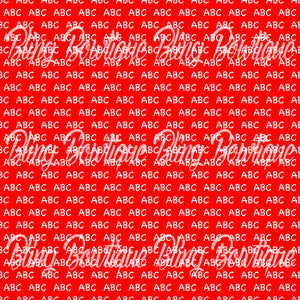 ABC's on Red Printed Glitter Canvas, Regular Canvas, Faux Leather For Bows