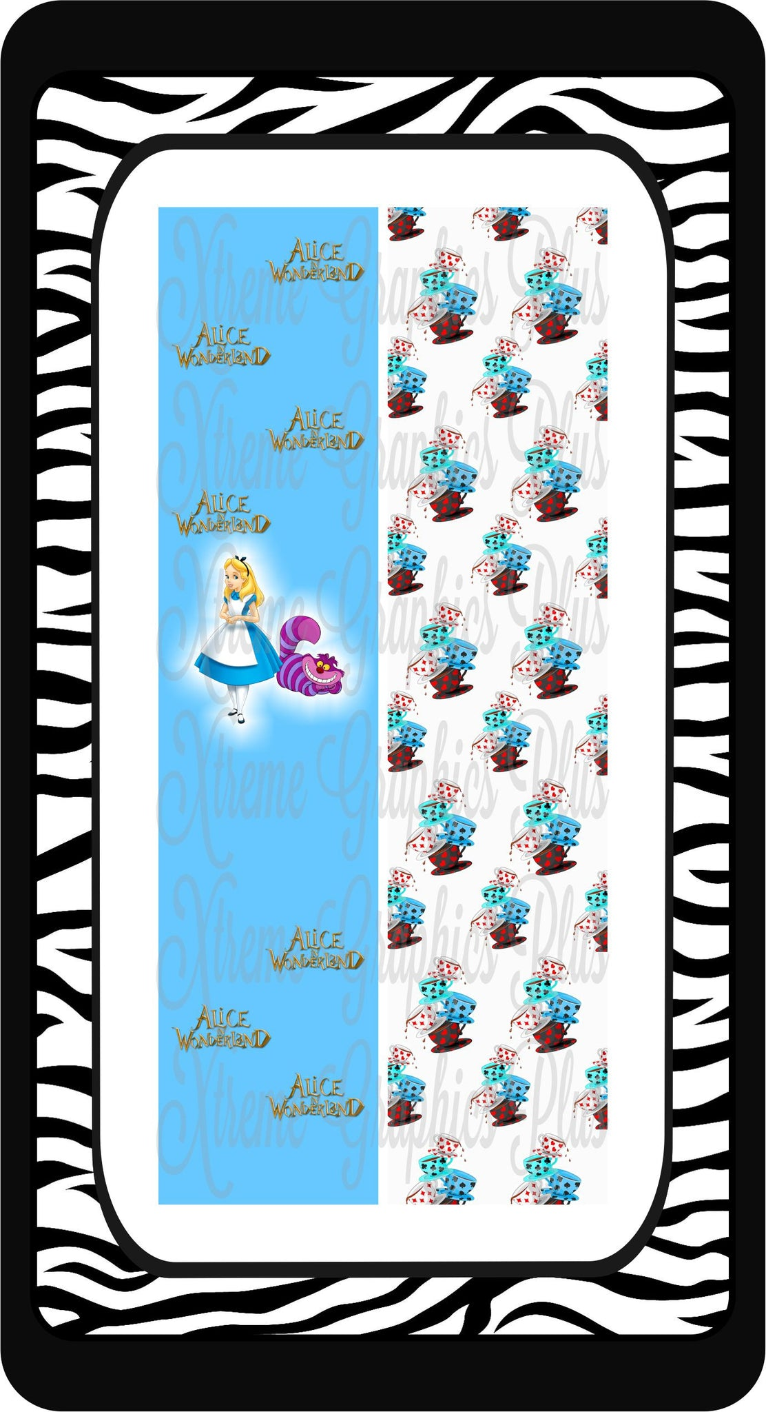 Alice In Wonderland Ready to Press Sublimation Bow Strips