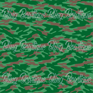 Army OCP Glitter Canvas, Regular Canvas, Faux Leather For Bows