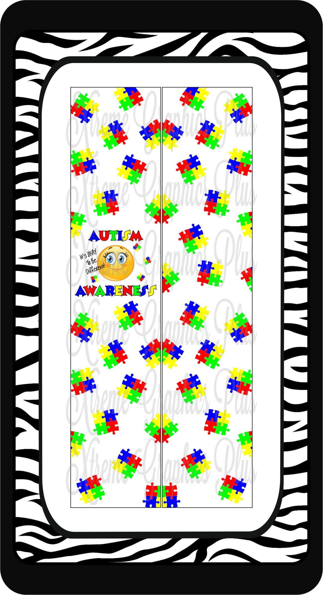 Autism It's OKAY To Be Different Sublimation Bow Strips Download