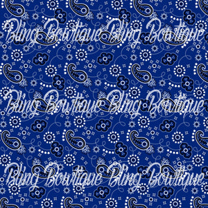 Bandana Navy Glitter Canvas, Regular Canvas, Faux Leather For Bows