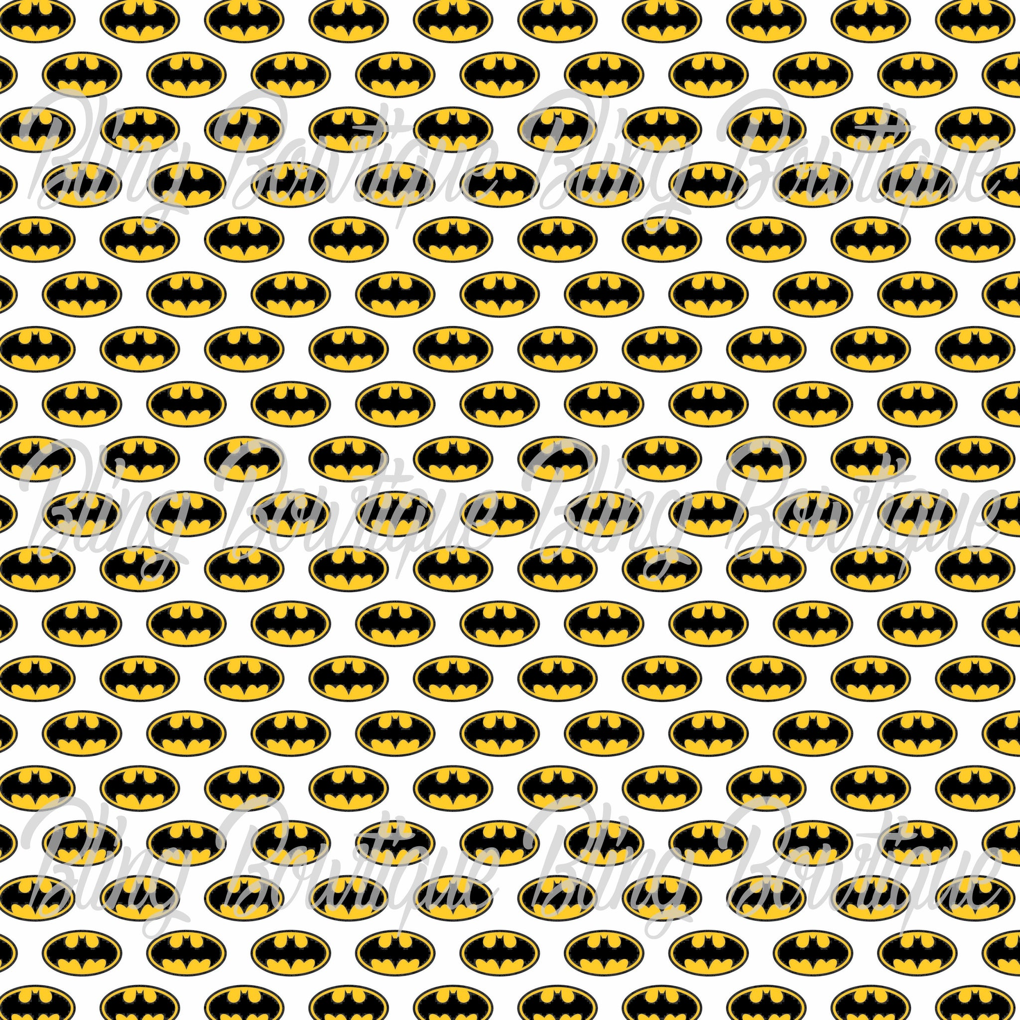 Batman Printed Glitter Canvas, Regular Canvas, Faux Leather For Bows