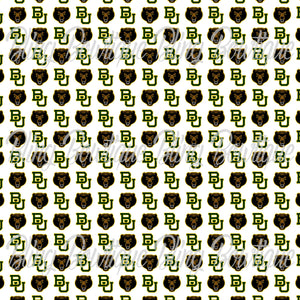 Baylor Bears 2 Glitter Canvas, Regular Canvas, Faux Leather For Bows