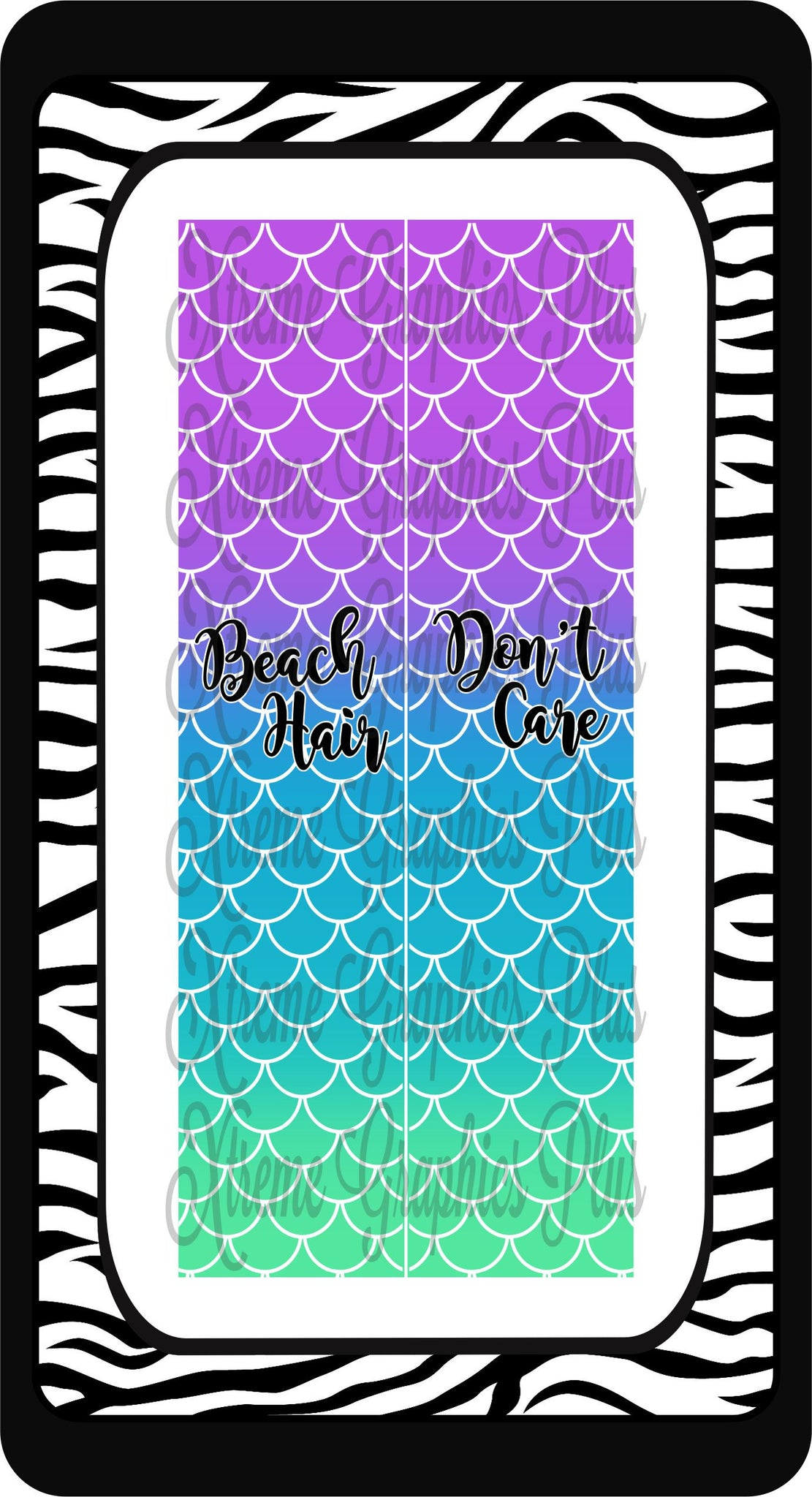 Beach Hair Don't Care Ready to Press Sublimation Bow Strips