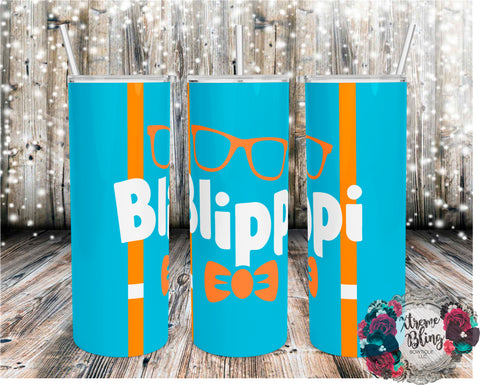Blippi Ready To Press Sublimation Print for 20oz Straight Skinny Tumbler or 20oz Tapered Skinny Tumbler (W)